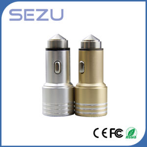 2016 New Design Dual USB Emergency Car Charger with Metal safety Hammer for Mobiles pictures & photos