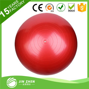Most Popular Fashionable Plastic Exercise Yoga Ball with Free Pump