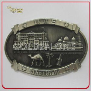 Antique Silver Plated 3D Metal Souvenir Abu Dhabi Fridge Magnet pictures & photos