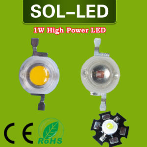 1W Epistar 350mA 110-130lm High Power LED Chip with Base or Without Base