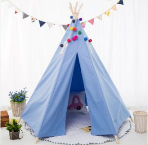 Sexangle Blue Teepee Children Indoor Playing Tent (MW6025) pictures & photos
