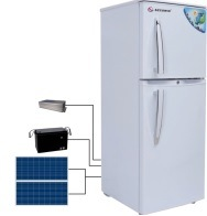 China Factory Price DC 12V/24V Upright Solar Power Refrigerator and Freezer with Solar Panel pictures & photos