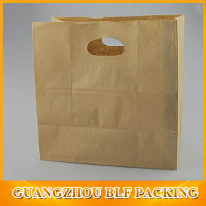 Eco Friendly Brown Kraft Paper Die Cut Handle Bag (BLF-PB348) pictures & photos