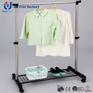 Stainless Steel Single Rod Clothes Hanger with Mesh pictures & photos