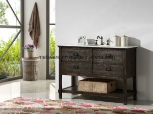 60′′ Freestanding MDF Bathroom Vanity with Ceramic Sink pictures & photos