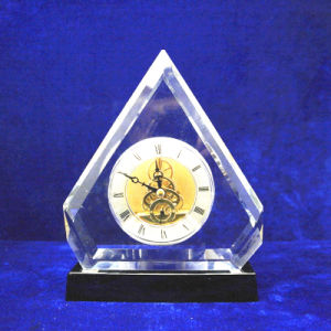 Luxury Table Crystal Desk Clock for Home Decoration (KS38401) pictures & photos