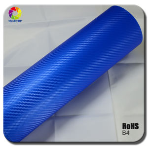 High Quality 3D Carbon Fiber Vinyl for Car Wrapping&Blue pictures & photos