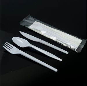 Individually Wrapped Disposable Plastic Cutlery, Cutlery Set pictures & photos