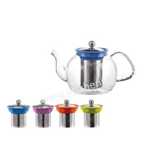 Tableware Handblown 500ml Transparent Borosilicate Glass Teapot with Infuser pictures & photos