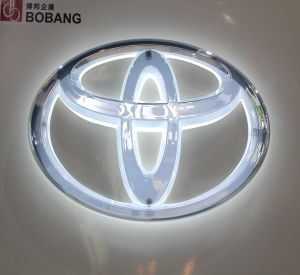 Factory Selling PVC Galvanized LED Backlit Car Logo pictures & photos