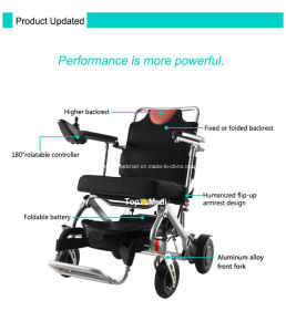 Topmedi Products 2016 Recling Portable Light Power Electric Wheelchair pictures & photos