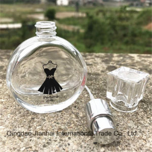 Round Black Skirt Glass Bottle for Perfume and Cosmetic pictures & photos
