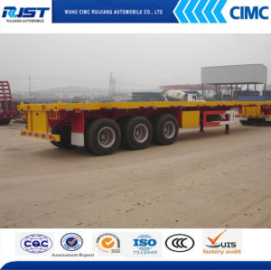3 Axle Flatted Bed Semi-Trailer (WL9402TPB) pictures & photos