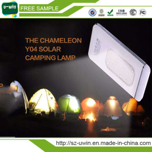 Mini out Door Solar Power Bank with LED Light pictures & photos