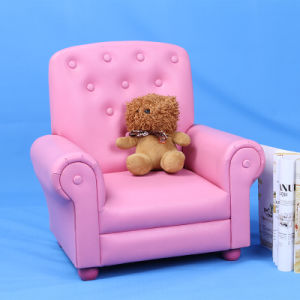 OEM &ODM Custom Single Seater Sofa /Children Furniture with Button pictures & photos
