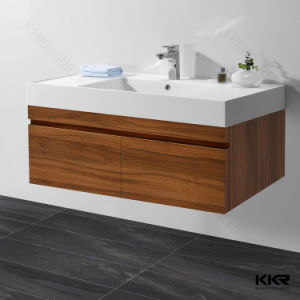 Kingkonree Modern Hotel White Artificial Stone Basin with Cabinet pictures & photos