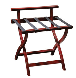 Hotel Bedroom Wood Luggage Rack with Back Bar pictures & photos