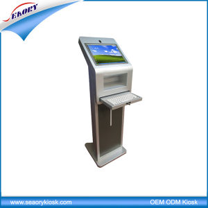 Free Standing Touch Screen with Keyboards Visitor Management Kiosk pictures & photos
