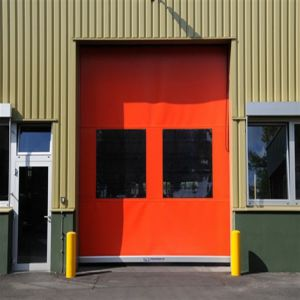 PVC Curtain High Speed Rolling Door (HF-1102) pictures & photos