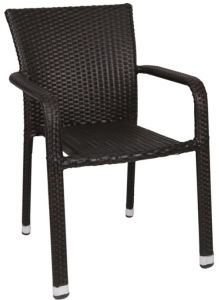 Oudoor/Indoor Stacking Rattan PE Wicker Dining Chairs (RC-06037) pictures & photos