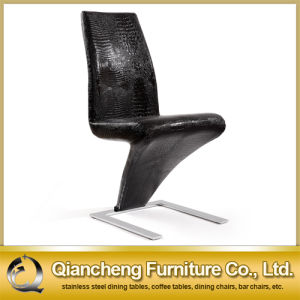 Black Leather Z Shape Dining Chair pictures & photos