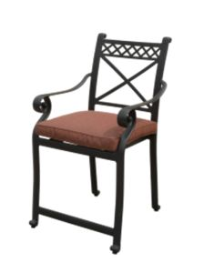 Patio Balcony Stationary High Chair Furniture with Cast Aluminum pictures & photos