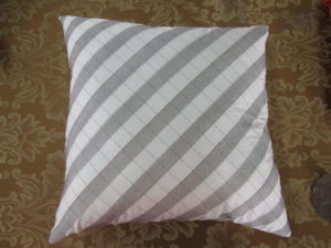Color Block Grey/ Ivory Square Pillow pictures & photos