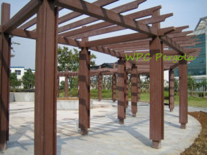 Natural Wood Like WPC Shad Terrace or Garden Pergolas pictures & photos