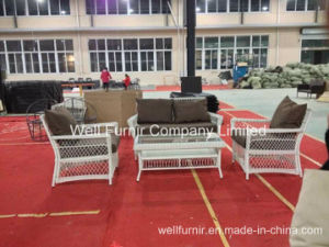 Outdoor Furniture/White Rattan Sofa Set/White Wicker Conversation Sofas/ pictures & photos