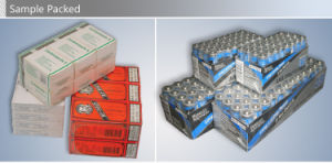 Automatic Battery Sleeve Thermal Shrink Packaging Machine pictures & photos