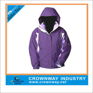 Fashion Waterproof Women′s Ski Jacket with Hood pictures & photos