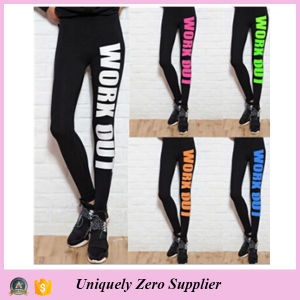 Women Sport Fitness Printed Workout Gym Pants (14244) pictures & photos