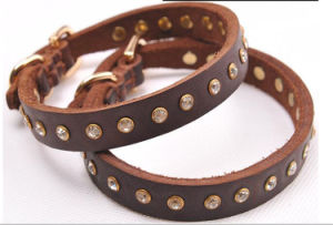 Cow Leather Dog Collar pictures & photos