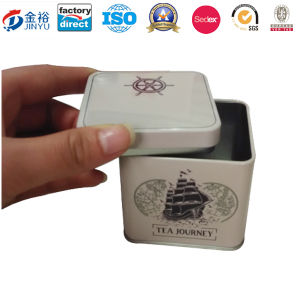Airtight Lid Metal Square Tin for Tea Box pictures & photos