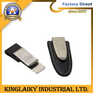 Fashion Metal Money Clip with Leather (ML-27) pictures & photos