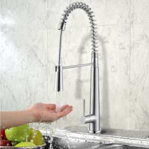 Stainless Steel Spring Pull-Down Kitchen Faucet with CSA Certificated pictures & photos