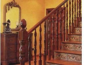Various Style Cheap Wooden Stairs Handrails pictures & photos