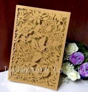 Laser Cut Wedding Invitation Card for Wedding Decoration