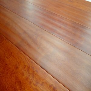 Embossed Surface Red Color Stain Birch Engineered Hardwood Floor