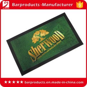 Custom Logo Cmyk Full Color Rubber Bar Mat