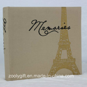 "4X6 "" 200 Photos Beige Fabric Photo Album with Eiffel Tower Printing pictures & photos"