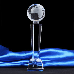 Crystal Trophy Award with Globe Ball pictures & photos