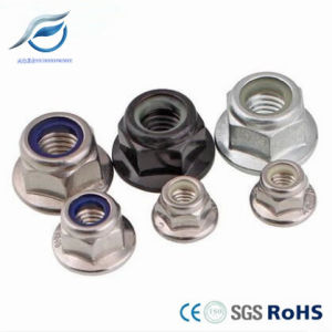 Zinc Plated Hex Flange Nylon Insert Lock Nut pictures & photos