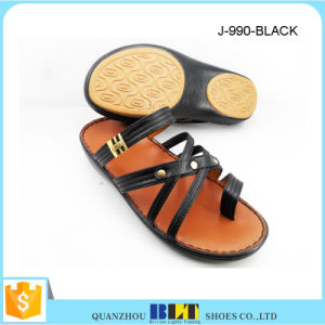 Hot Sale Men Salon Stitching Slippers pictures & photos