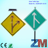 Durable Aluminum Solar Traffic Sign / LED Road Sign / Warning Sign pictures & photos