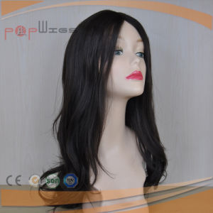 Black Cuticle Remy Human Hair Natural Color Charming Silk Top Wig pictures & photos