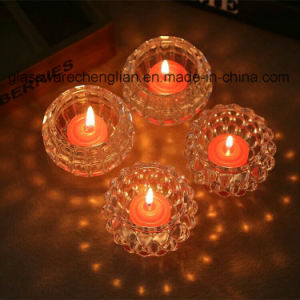 Machine Made Crystal Glass Candle Holder (ZT-101) pictures & photos