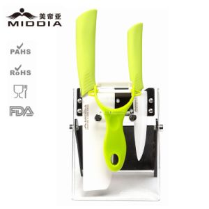 Kitchenware Set for Ceramic Knife Set with Foldable Holder pictures & photos