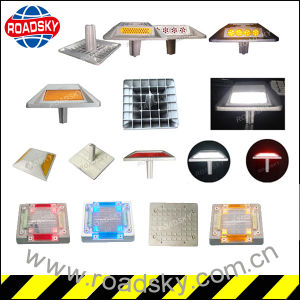 Traffic Square Double Sides Reflective Cast Aluminium Alloy Road Spike pictures & photos