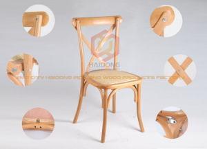 Garden Patio Oak Beech Wood Outdoor Cross X Back Garden Wedding Chair pictures & photos